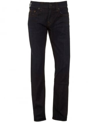 Mens Jeans Geno Tapered Leg Wanted Man Dark Whisker Jean