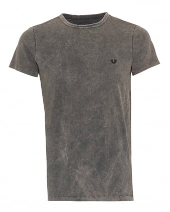 Mens Metal Badge T-Shirt, Castle Rock Grey Tee