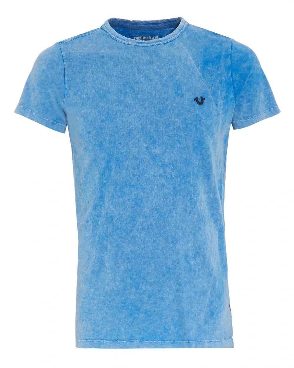 True religion jeans mens metal badge t shirt french blue tee for French blue t shirt