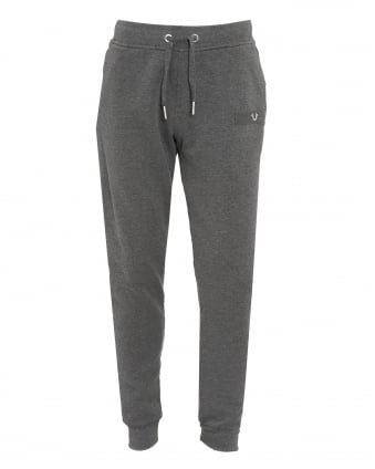 Mens Metal Horseshoe Cuffed Anthracite Grey Track Pants