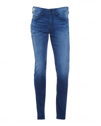 Mens Rocco Relaxed Fit Mid Whisker Skinny Jeans