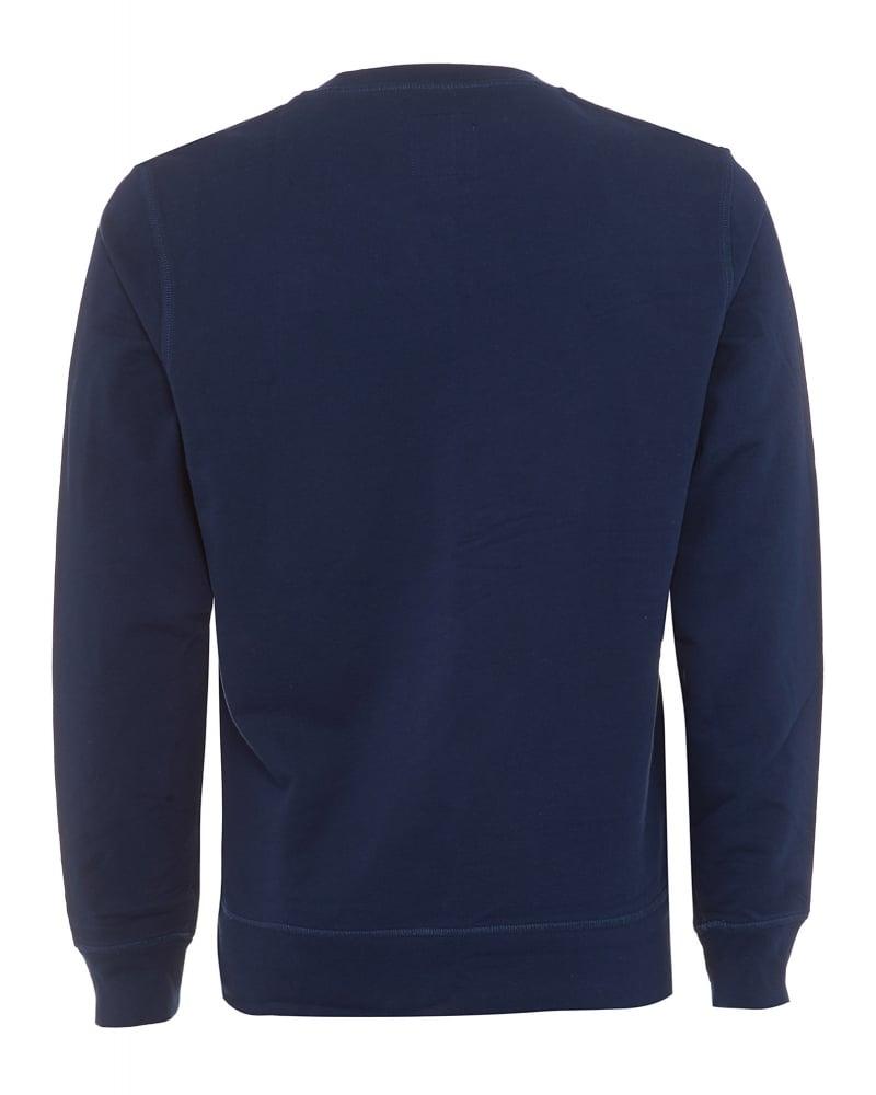 True Religion Mens Sweatshirt Horseshoe Stamp Logo Navy Blue ... 9950a9c7bc8