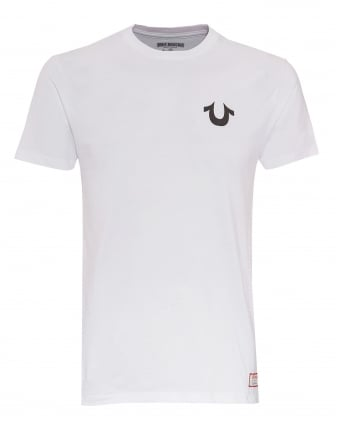 Mens Traditional Logo T-Shirt, Plain White Tee