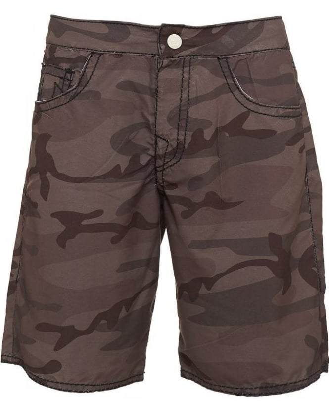 True Religion Jeans 'Ricky' Green Camouflage Shorts