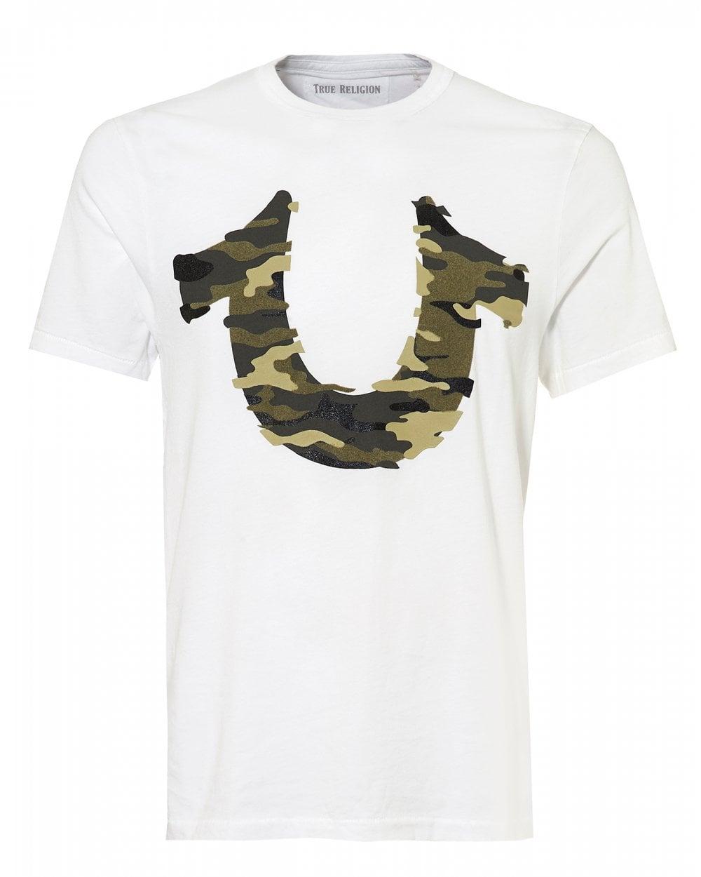 True Religion Mens Camouflage Logo T-Shirt b53ccb90a176