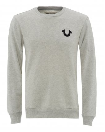 c49396f3 Mens Fleece Logo Sweatshirt, Grey Ribbed Sweat New In. True Religion ...