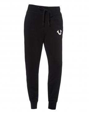 5a772a2830 Mens Logo Cuffed Joggers, Black Sweatpants New In. True Religion ...
