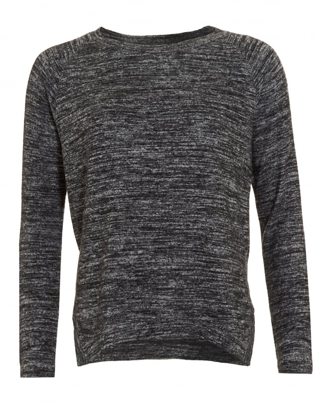 Velvet by Graham & Spencer Womens Cade Top, Marl Grey Long Sleeve T-Shirt