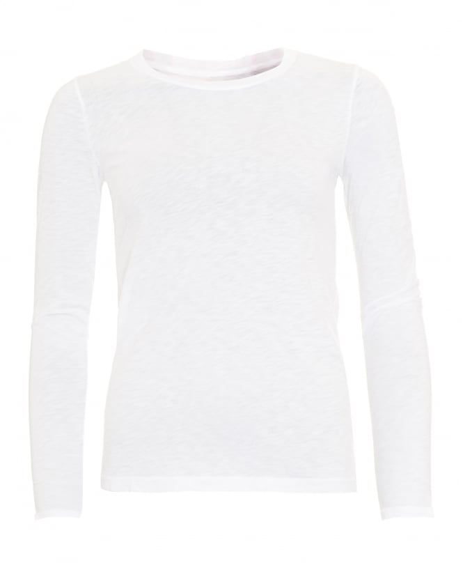 Velvet by Graham & Spencer Womens Jessi T-Shirt, Long Sleeve White Tee