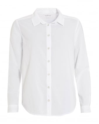 Womens Minnie Longer Back White Shirt