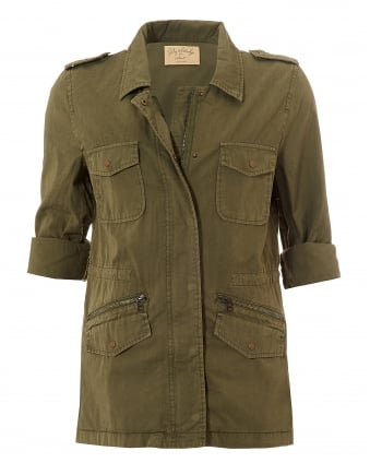 Womens Ruby Overshirt, Forest Green Jacket