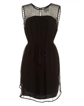 Womens Taline Black Beaded Sleeveless Dress