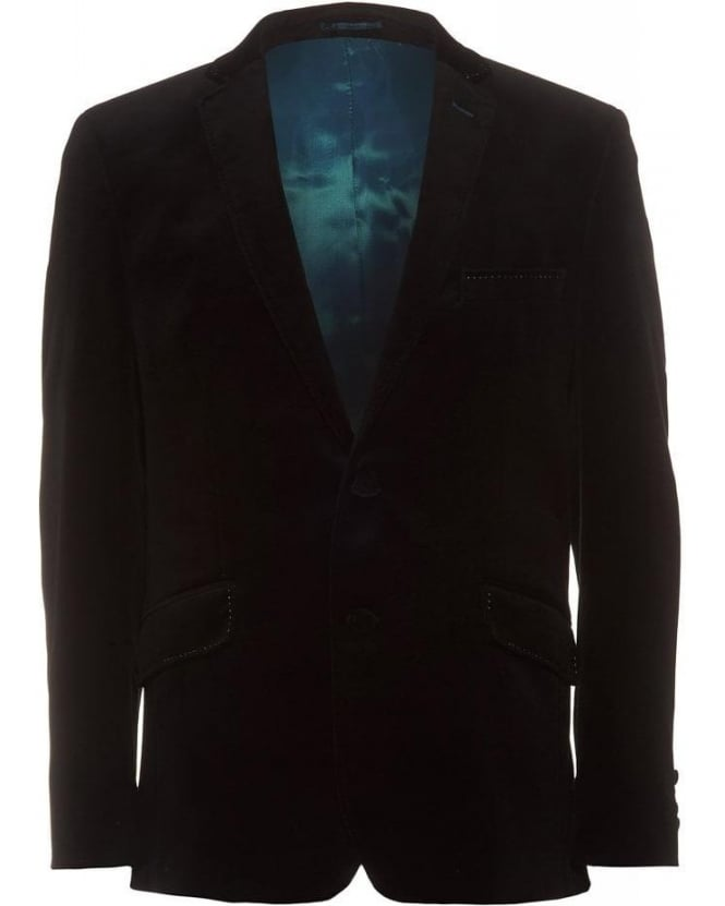 Holland Esquire Velvet Trend Jacket Black Blazer