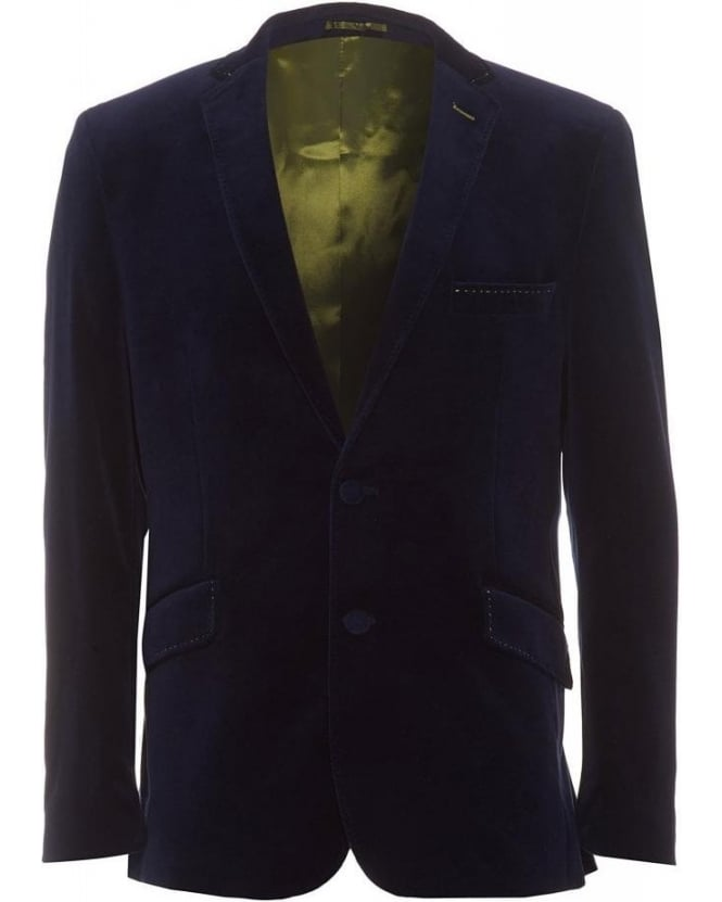 Holland Esquire Velvet Trend Jacket Navy Blazer
