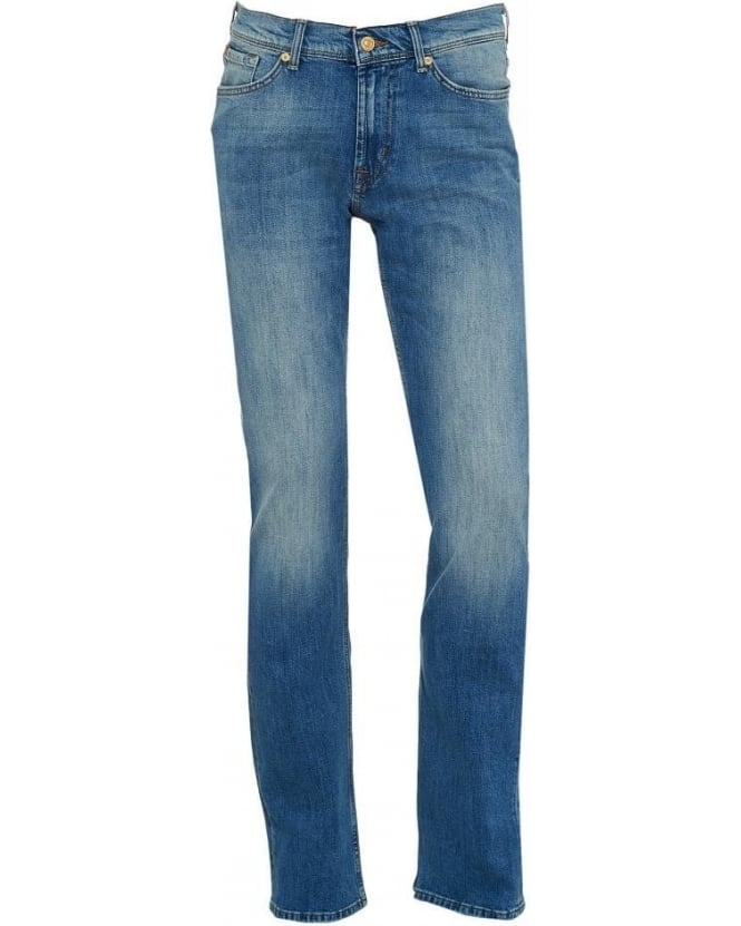 For All Mankind Venice Light Wash Blue Slimmy Slim Fit Tapered Jeans