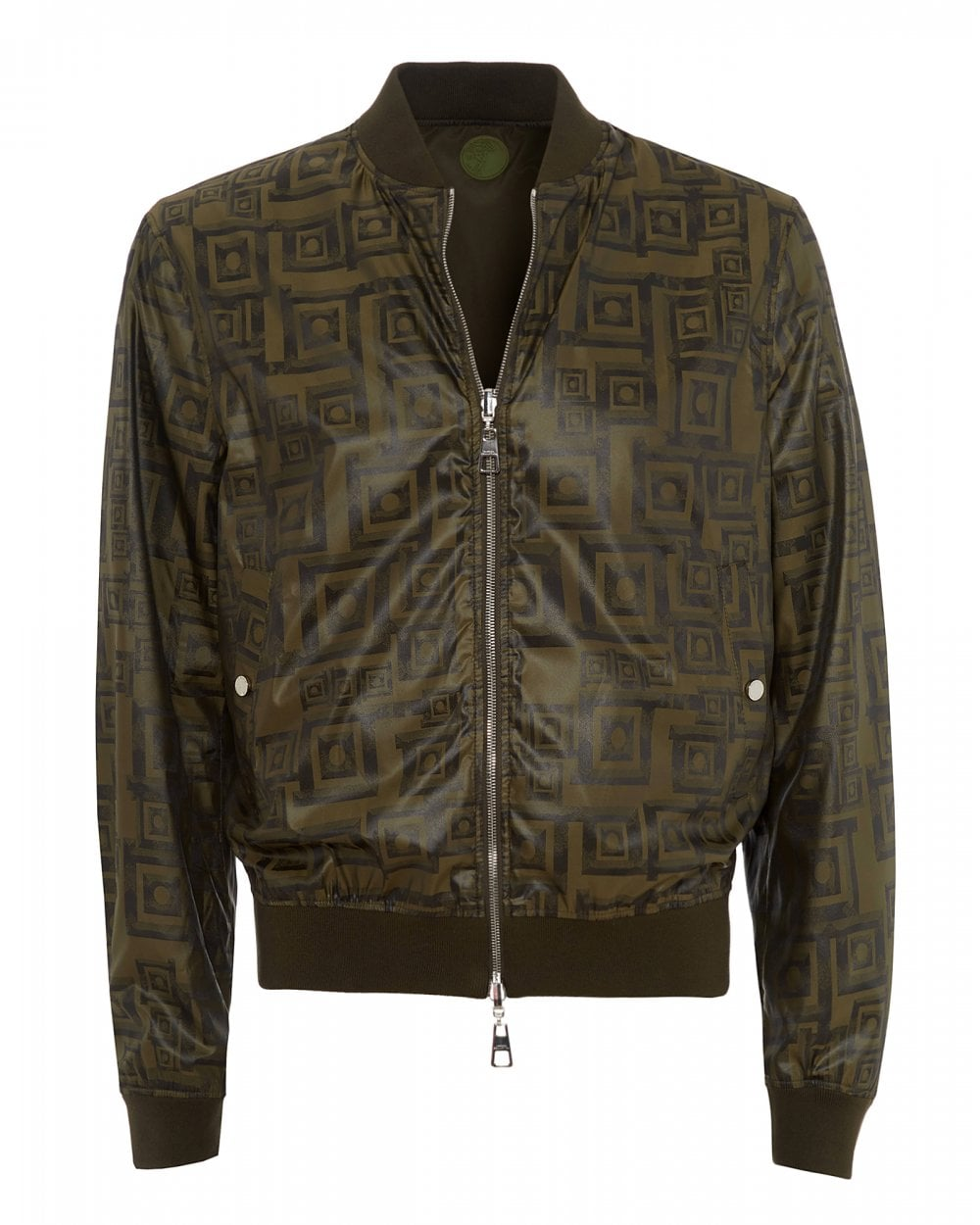 3b111b4399 Mens All Over Tile Bomber, Khaki Green Jacket