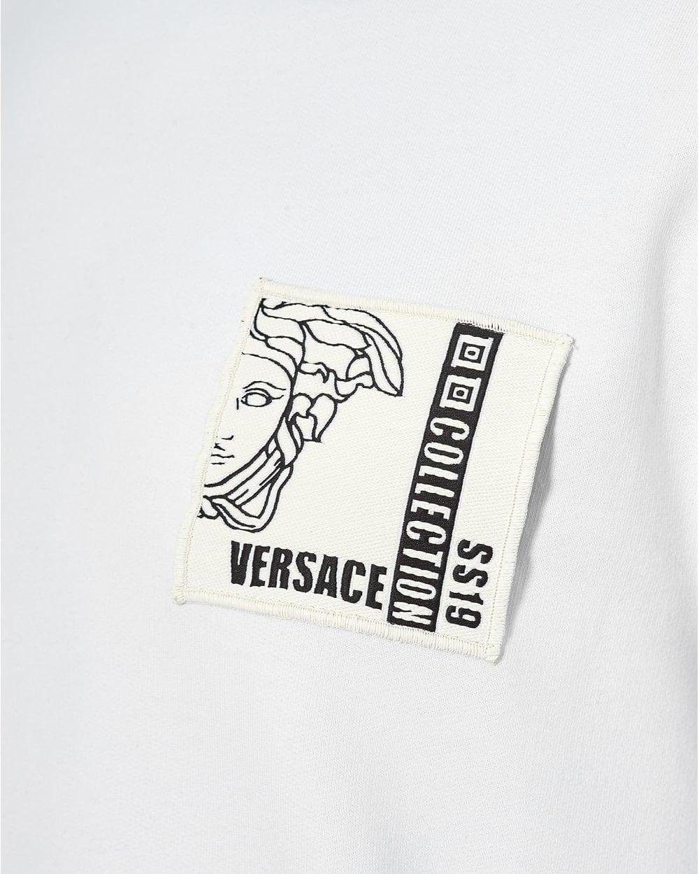 Versace Collection Sweat Chest Sweatshirt Patch White Mens 8Tn8wCpq 6041cbb7cea