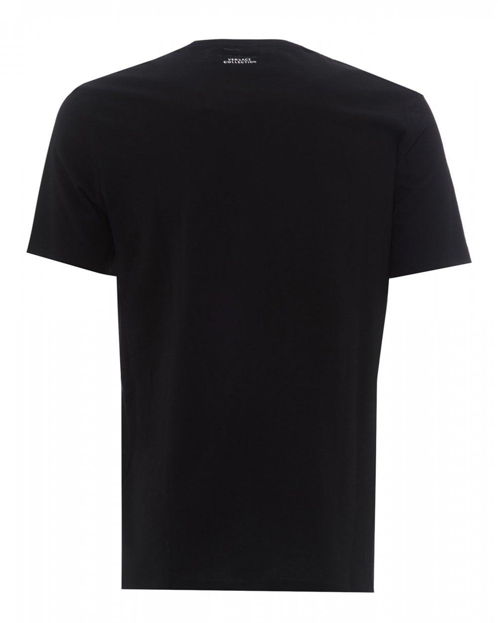 67803115 Mens Foil Half Medusa T-Shirt, Black Tee