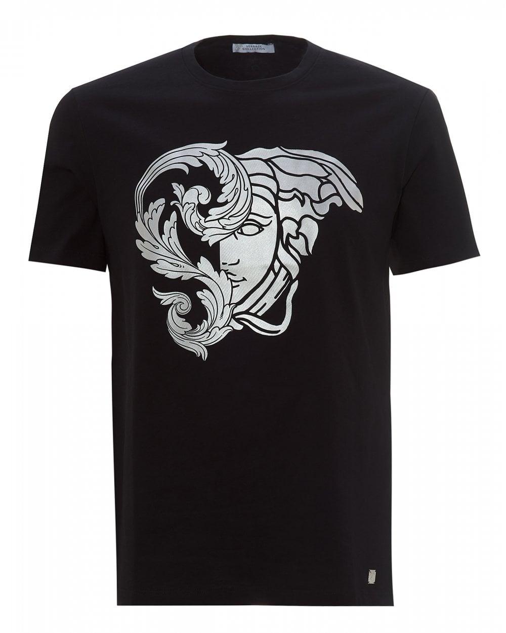 reputable site ab2a9 b862d Mens Foil Medusa Logo T-Shirt, Black Tee