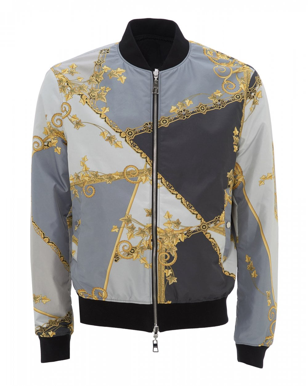 35928d7a57 Mens Pastel Eye Print Bomber, Grey Jacket
