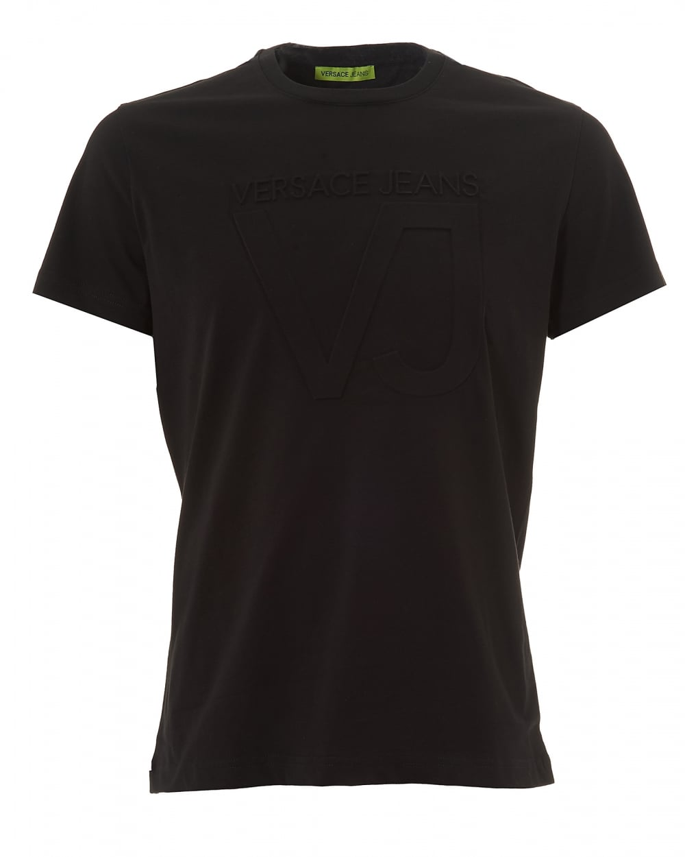 9f875605b7 Mens Black Logo T-Shirt, Embossed Cotton Tee
