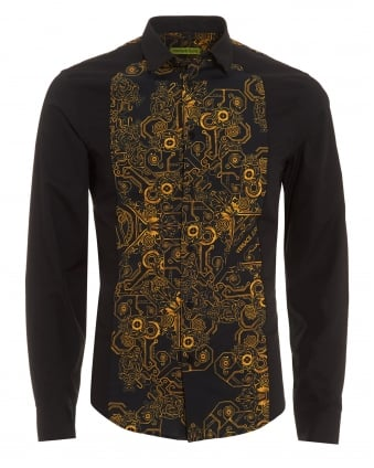 Versace jeans for men repertoire fashion for Blue and white versace shirt