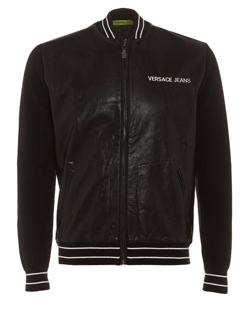 Mens faux leather jacket uk