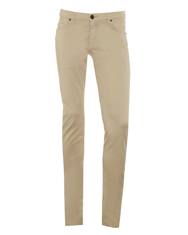 96553aefc Versace Jeans Mens Chino Jeans, Beige Slim Fit Mid-Rise Jeans