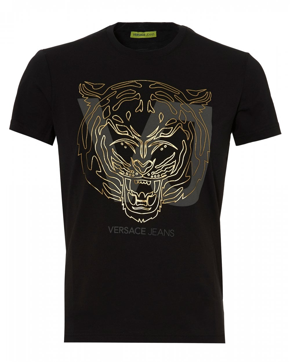 008608a6e19 Versace Jeans Mens Gold Tiger Logo T-Shirt