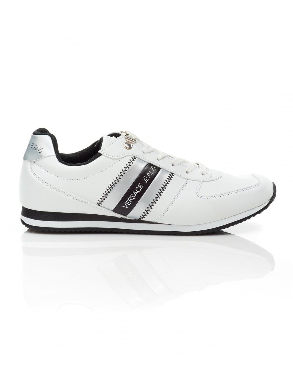 2c1e7f83cca7 Versace Jeans Mens Stripe Logo Trainers