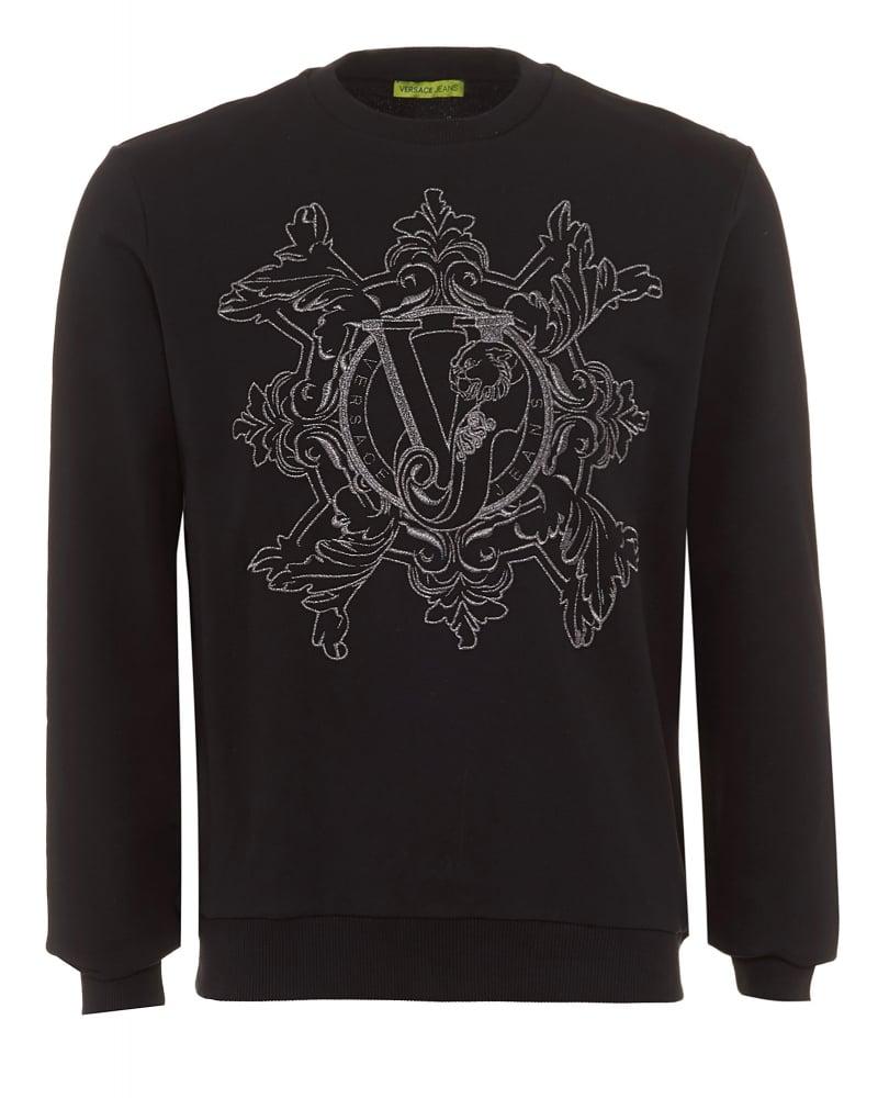 69d786bc ... Versace Jeans Mens Sweatshirt Black Tiger Logo Sweat. Tap image to  zoom. Mens Sweatshirt Black Tiger Logo Sweat