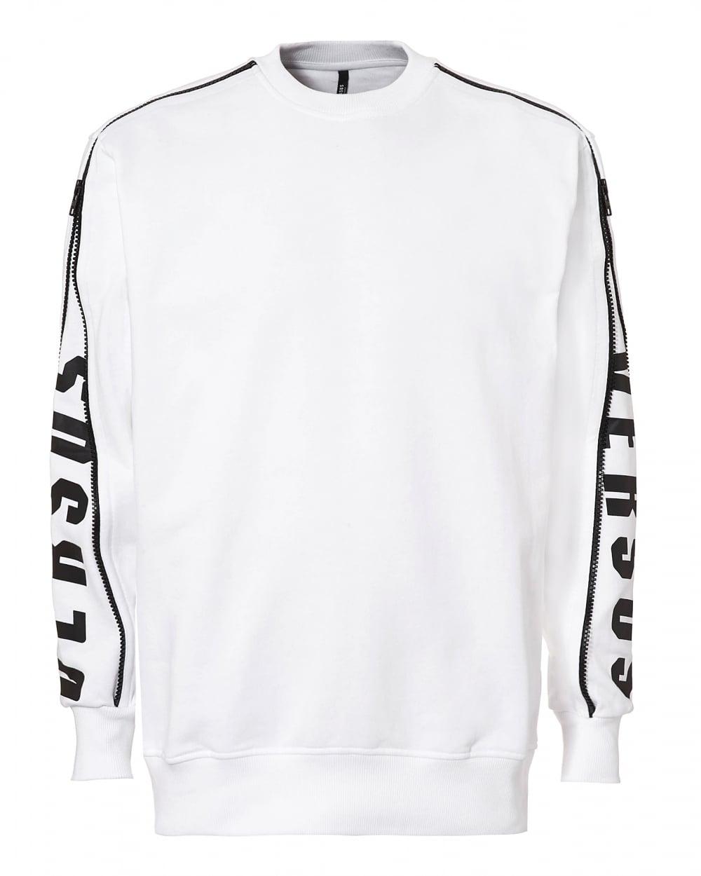 c79b5e9bcab Versus Versace Mens Arm Zip Sweatshirt