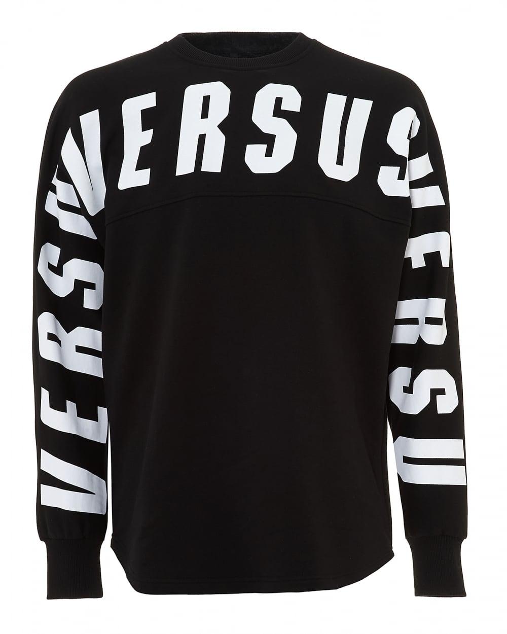 0d60bfad71bf Versus Versace Mens Black Logo Sweatshirt