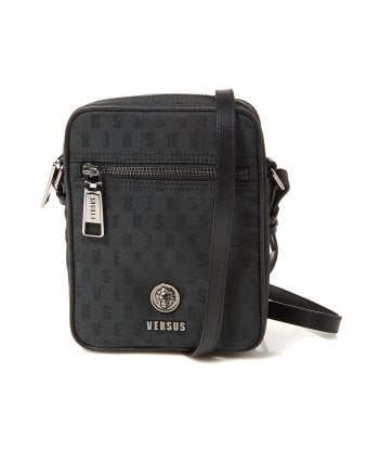 5ef56912e3ec Mens Logomania Black Shoulder Stash Bag. Versus Versace ...