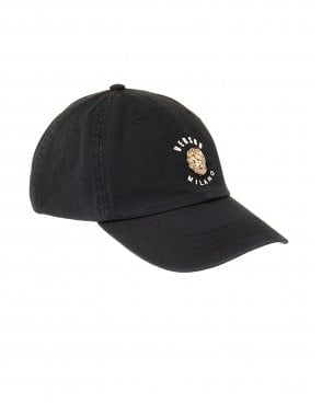 ff571d011 Mens Metal Lions Head Black Baseball Cap. Versus Versace ...