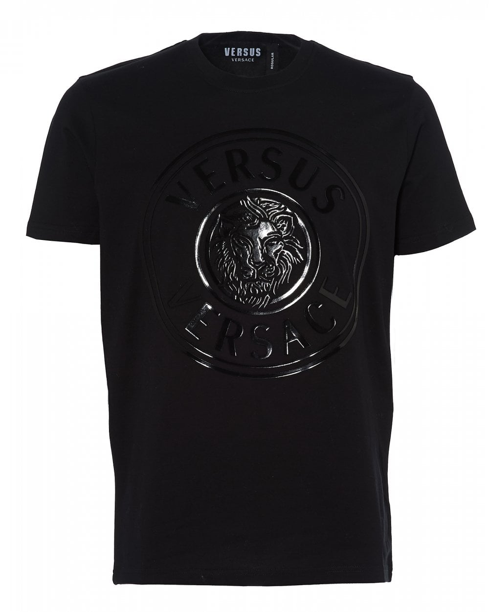 cbf5786b89c688 Versus Versace Mens Rubberised Lions Head T-Shirt, Black Tee