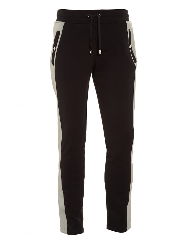 Versus Versace Mens Side Stripe Black and Grey Trackpants