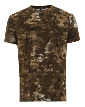 Mens T-Shirt, Lion Camouflage Print Tee