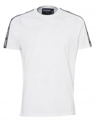f57716ee Mens Tape Logo T-Shirt, White Tee New In. Versus Versace ...