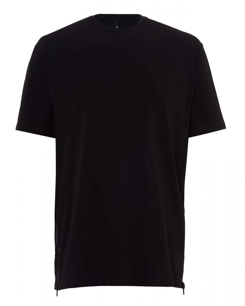 Versus versace mens zip mesh panel t shirt oversized for Womens black tee shirt