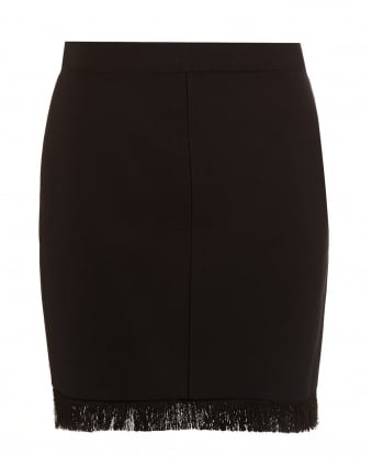 Womens Daniella Black Roma Fringe Skirt