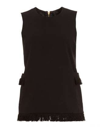 Womens Daniella Tunic, Black Roma Fringe Top