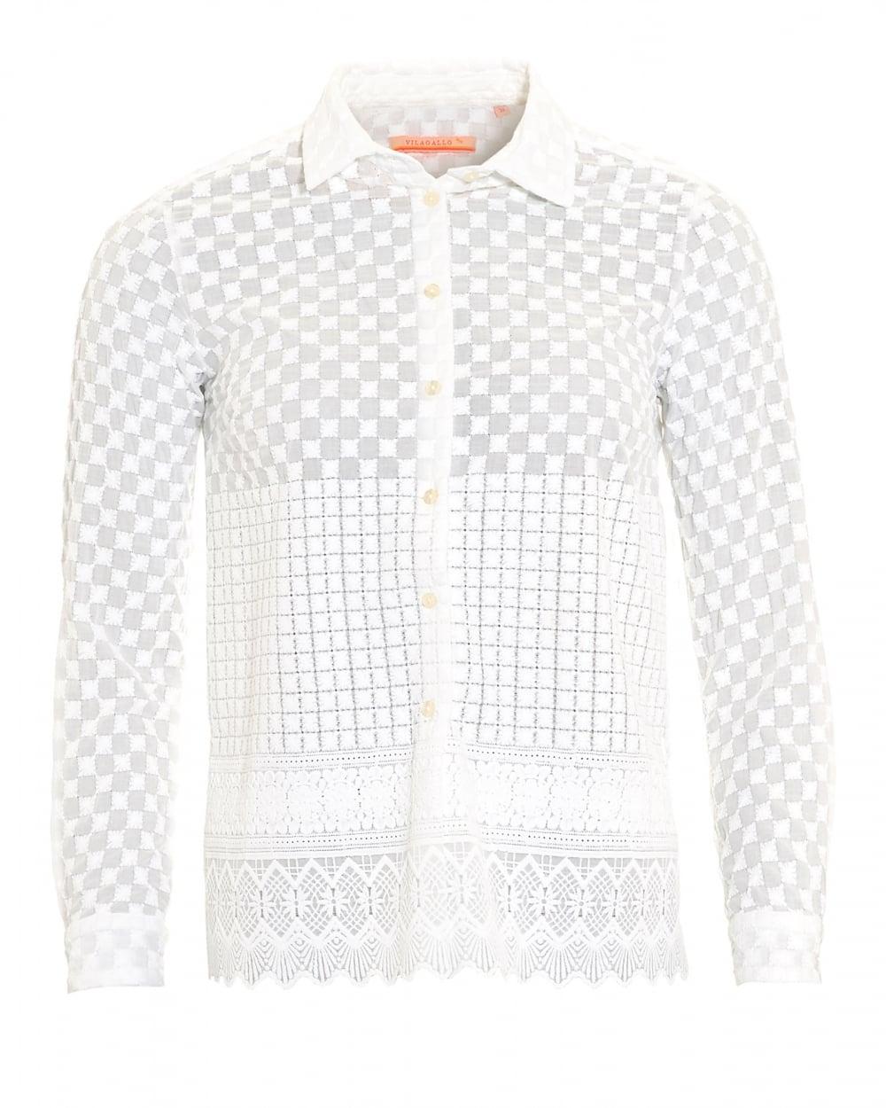 2015 Newly Spring Summer Three Quarter Sleeve Cotton Blouse Long White  Embroidery Shirt Women Joker Blouse Shirt