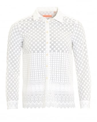 Womens Dover White Embroidered Shirt