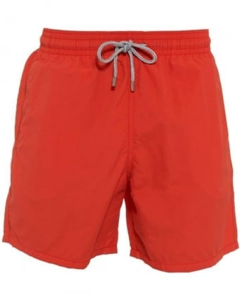 Bright Orange 'Moorea' Swim Shorts