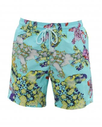 43f57b3c3d Mens Moorea Aqua Blue Swimshorts, Watercolour Turtles Swimming Trunks