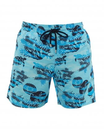 8501618d4b Mens Moorea Ocean Graphic Swimshorts, Horizon Blue Swimming Trunks New ·  Vilebrequin ...
