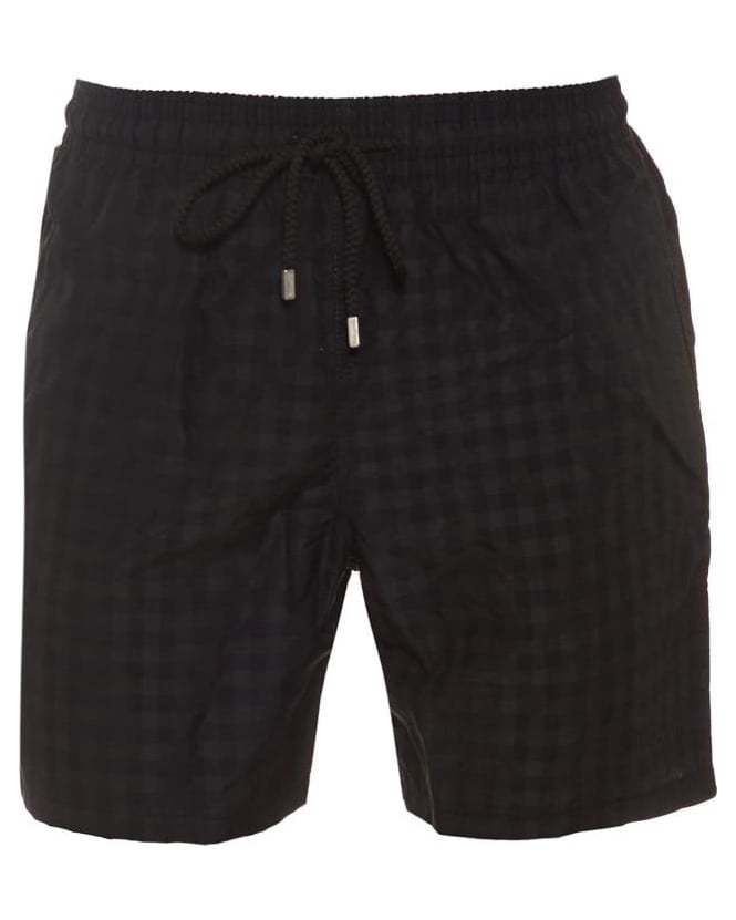Vilebrequin Mens Moorea Swim Shorts Black Cameo Checks Print Short