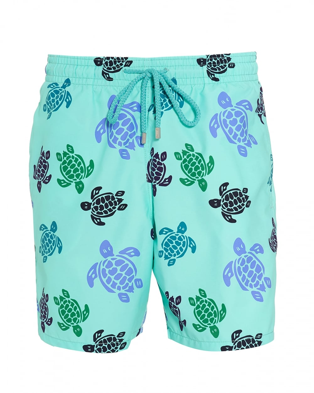 70b41f22ae Vilebrequin Mens Moorea Swim Shorts, Blue Large Turtle Print Swimming