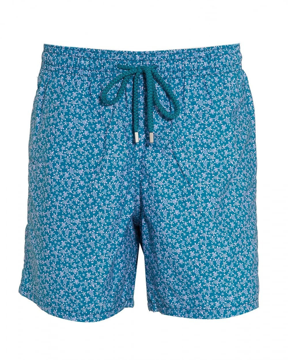 742d06812c Mens Moorea Swim Shorts, Blue Micro Turtle Print Swimming Trunks
